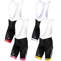 Wholesale 2016 Etixxl Quick Step Cycling Bib Shorts High Quality Body Fitting Pink Yellow White Red Blue Color Padded Gel Pants Size XS XL