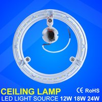 adsorption cooling - Circle Ceiling light W W W transparent ring lamp Led light suorce high brightness SMD5730 aluminum PCB Magnet adsorption AC180 V