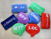 big decorative letters - Decorative Plush Cushion Pillows Letters Like Follow Reblog Subscribe WTF LOL OMG BFF Sign Stuffed Toy Emoji Bubble Bolster Christmas Gift