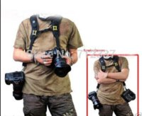 Wholesale Black Double Shoulder Sling Belt Quick Rapid Strap Photo Studio Accessories for DSLR Digital SLR Camera