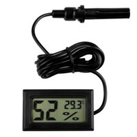Wholesale Mini Digital LCD Monitor Thermometer Hygrometer Temperature Gauge Humidity Meter with Sensor Probe for Aquarium Fish Tank