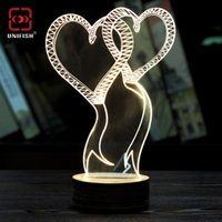 best atmosphere - 2016 Fashion Creative D Table Lamp Transparent D Wireframe LED Bulbing Christmas Lamp Magic Night Bed Light Atmosphere Best Christmas Gift