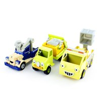 crane - 3pcs set cartoon truck aerial ladder truck Bob the builder engine metal models Thomas vehicle cars mini baby play crane toy USA SELLER