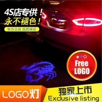 Wholesale Cheap Price Car Tail LOGO Projecting Lamp Lights Auto Rear Light Emblem Sticker LED Laser External Lighting For Skelton Head Pattern