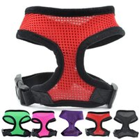 Wholesale 7Colors Nylon Pet Mesh dog Harness Strap Vest Collar For Small Medium sized Dog leads Puppy Comfort Harness