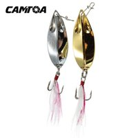 Wholesale CAMTOA Colors Fishing Spoon Metal Lures Hard Bait Fresh Water Bass Walleye Crappie Fishing Tackle