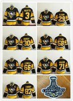 Wholesale 2016 Stanley Cup Champion Patches Kris Letang Lemieux Evgeni Malkin Sidney Crosby Youth Hockey Jerseys