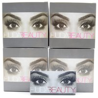 Wholesale 2016 HUDA BEAUTY False Eyelashes Natural Long Messy Cross Thick False Eye Lashes Huda Beauty Makeup DHL Free