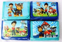 Wholesale 60Pcs Cartoon Long Wallet With Card Holder bag paw patrol snow slide Men And Women Purse Cartoon Wallet Dollar Price