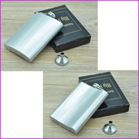 Wholesale Portable oz Stainless Steel hip flask with Funnel and Retail Box Liquor Whiskey Vodka Flask Bottle Drinkware Mug