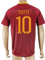 Men wholesale soccer jerseys - Thai Quality Customized TOTTI Rome Soccer Jersey Shirts top DZEKO Football Jerseys Tops GYOMBER NAINGGOLAN PEROTTI Soccer WEAR