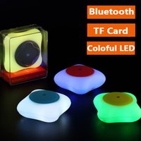 audio fashion - fashion C1 Portable Wireless Bluetooth Mini Speaker Support TF Card Colorful LED lights HIFI Music Speakers Outdoor Stereo Subwoofer