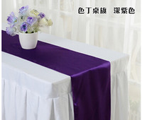 Wholesale Royal Blue Satin Table Runner quot x quot Wedding Decor