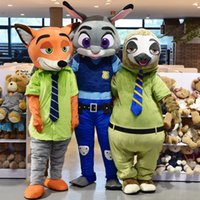 Wholesale Professional Quality Zootopia Mascot Costume Halloween Christmas Birthday Dress Adult Size Judy Nick Flash Mascot
