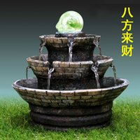 Wholesale Water fountain lucky decoration crafts fashion home decoration opening gifts feng shui wheel