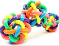 Wholesale 9 cm Baby Children Sounding Bell Toys Rubber Material Colored Balls Colorful Ball Kids Toys Also Be Used As Pet Dog Toys
