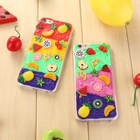 apple fruit salads - Cute D cartoon Fruit Gel Case For iPhone S Plus Clear TPU sweet candy colorful salad phone case cover for g p