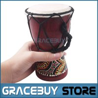 Wholesale quot Small African Hand Drum Djembe Classic Painting Jambe Drummer For Sale