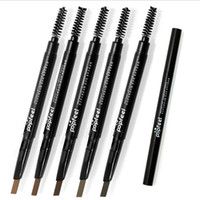 automatic pencils - Double Automatic Rotation Eyebrow Pencil Waterproof Sweat Is Not Blooming With Brush Brown Full Size Mascara For Eyes Makeup AAA Star