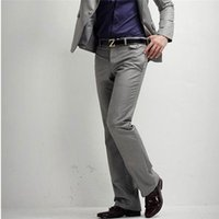 Wholesale Dress Suits New Mens Korean Stylish Straight Smooth Pants Casual Trousers