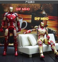 action toy man - 2016 Iran Man MK43 Red SHF Figure Action Figure scale painted figure Gold Iron Man MK42 Doll PVC ACGN figure Toy