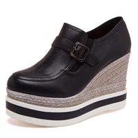PP FASHION Womans Formal Negro Plataforma Plata Wedges Oculta Altura Heel Zapatillas Niñas Casual Bombas Zapatos