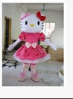 Wholesale Cheap High Quality Adult Size hello Kitty Mascot Costume New Arrival Hello Kitty Cartoon Character Costumes