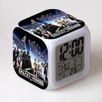 antique desk calendar - Star Wars Alarm Clocks digital watch Led Color Changing electronic desk LCD Display despertador