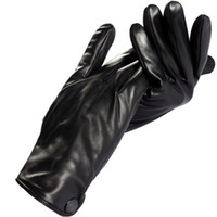 Wholesale warm winter mens gloves Genuine Leather Cotton Adult Rice white Spandex winter gloves men genuine leather
