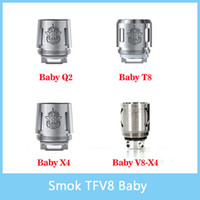 Wholesale 100 Genuine Smok TFV8 Baby Coil Head V8 Baby T8 Baby X4 Baby Q2 V8 X4 Core Replacment coil For TFV8 BABY Beast Tank