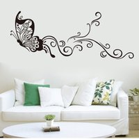 Wholesale The butterfly wall stickers The sitting room the bedroom setting wall stickers Indoor wall post Personality wall stick