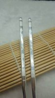 Wholesale 999 sterling silver chopsticks pure silver Healthy flatware table dinner Per gram Wedding gifts wedding supplies chinese quot nian nian you yu quot