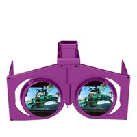 Wholesale New mini fold VR folding glasses virtual reality mobile phone D glasses factory direct sales Purple