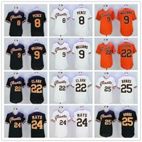 american penny - Complete Logo name Stitched Giants PENCE WILLIAMS CLARK MAYS BONDS American League Baseball Jerseys Sport