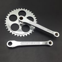 Wholesale New Bike Part Bicycle Cranksets Cranks Chainrings Fixed Gear Mountain Road Bike Cycling Parts T MN0216