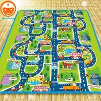Wholesale 2 Meter Foam Play Mat Baby Crawling Mat Child Picnic Carpet Baby Floor Mat Child Beach Mat City Traffic Bebe Alfombra Juego PX24