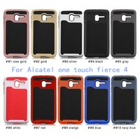 alcatel one touch - For Alcatel One Touch Fierce POP PLUS Allura Metropcs case Shockproof Impact Wave Hybrid Lars Mars Armor cover