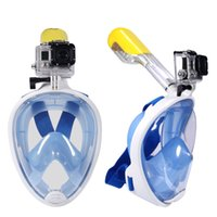 Wholesale Snorkeling Full Face Diving Mask Swimming Goggles Water Sports For GoPro Hero XIAOMI YI SJ4000 SJ6000