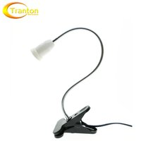 Wholesale 360 Degrees Flexible Lamp Holder Clip E27 Base with On off Switch EU US Plug use as Simple Desk Lamp