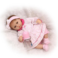 Cheap 42cm Silicone Baby Reborn Dolls Lifelike Newborn Girl Babies Toy for Child Pink Princess Doll Birthday Gift Brinquedos
