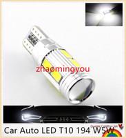 Wholesale 50PCS Car Auto LED T10 W5W Canbus SMD LED Light Bulb No error led parking Fog light Auto No Error univera car light