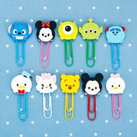 Wholesale Adorable Cartoon Characters Paper Clip Bookmark Promotional Gift Stationery School Office Supply Escolar Papelaria