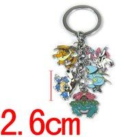 Wholesale Car key Chains Pikachu Keychain Metal Pendant Accessories Poke Little Wisdom Design