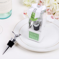 Wholesale 10pcs Love Bird Wine Bottle Stopper with Gift box Pigeon Bridal Shower Wedding Favors Party Christmas Gift