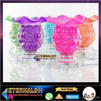 Wholesale 2015 NEW Fragrance Lamp table lamp night light Glass lamp electric aroma stove fragrant lamps V W That move light sweet lamp aing kind