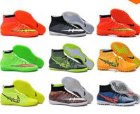 Wholesale 2015 High Ankle MercurialX Proximo Str Phantom FG Soccer Shoes Superfly Hypervenom Indoor TF IC Football Boots size