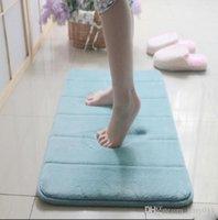 Wholesale Soft Thickening Memory Foam Door Mat Absorbent Anti slip Mats Bath Mat Doormat Carpet ZH301