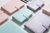 spiral notebook - 2016 New Original Macaron Lovely Diary Pink Lilac Blue Rose A5 A6 Spiral Planner Page Agenda Gift Notebook