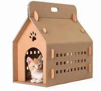 best cat furniture - factory direct hot sale competitive price best quality custom durable lightweight recyclable pp plastic cat carrier box cages