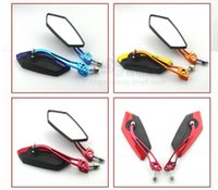 Wholesale Colorful CNC Motorcycle Parts mm Electric Car Rearview Mirror With Modified Aluminum Rod Universal in Motorcycle Mirrous and Electrombile
